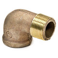 "1/4"" Brass 90 Deg Street Elbow, Lead Free (Threaded)"