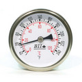 "1/2"" NPT, 2.5"" Face, Snap Well Thermometer (Stainless Steel)"