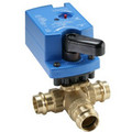"3/4"" NPT 3-Way Brass Valve w/ VA9104 Proportional Actuator"