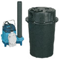 WRS-5-1/6 HP, 15 GPM @ 5' Submersible Utility Pump, Water Removal System w/ 5 gal. Tank & 10ft Power Cord