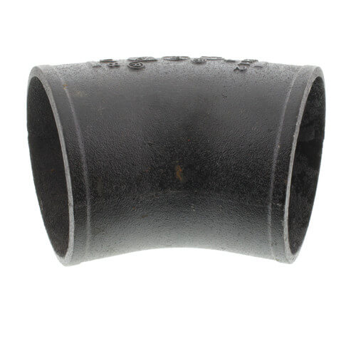 Nh b w quot imported no hub cast iron ° elbow