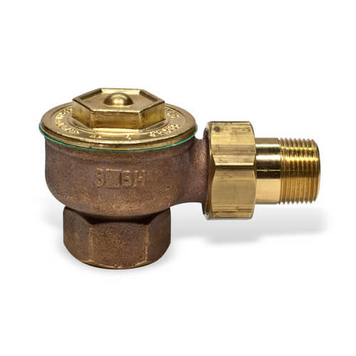 "1/2"" (FIP x Male Union) Steam Angle Radiator Valve"