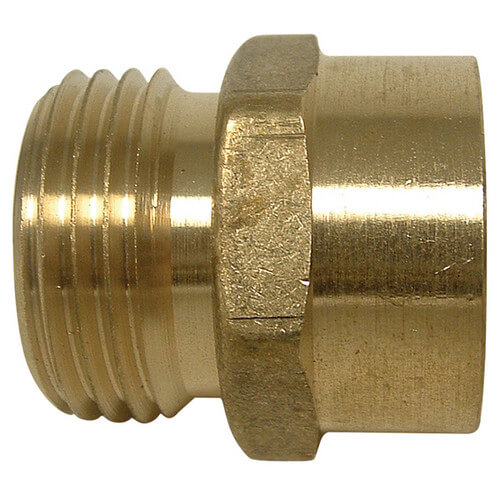 "LFA-669 PBGH4, 3/4"" x 3/4"" Garden Hose Adapter (Brass Male Hose to Female Pipe Thread Adaptor) Product Image"