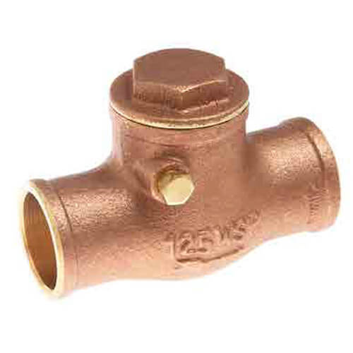 0123505 watts 0123505 1 lfwcvs lead free brass swing check valve solder. Black Bedroom Furniture Sets. Home Design Ideas