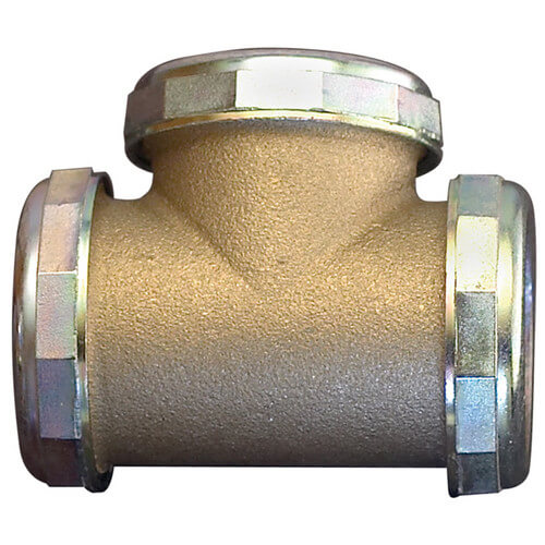 "1-1/2"" 3 Way Tee - Rough Brass"