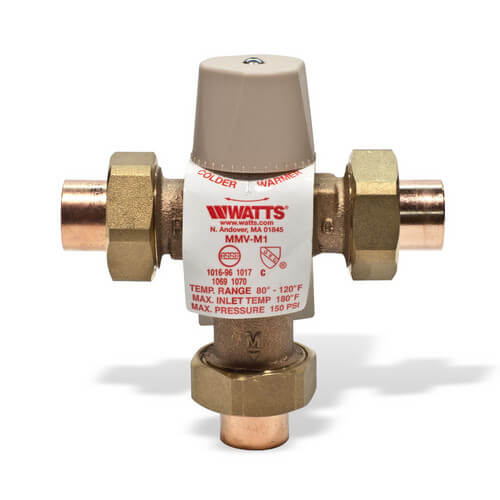 "3/4"" MMV-US M1, Sweat Mixing Valve"