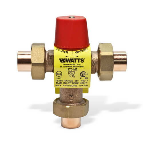 "1/2"" 1170-US M2 Sweat Mixing Valve Product Image"