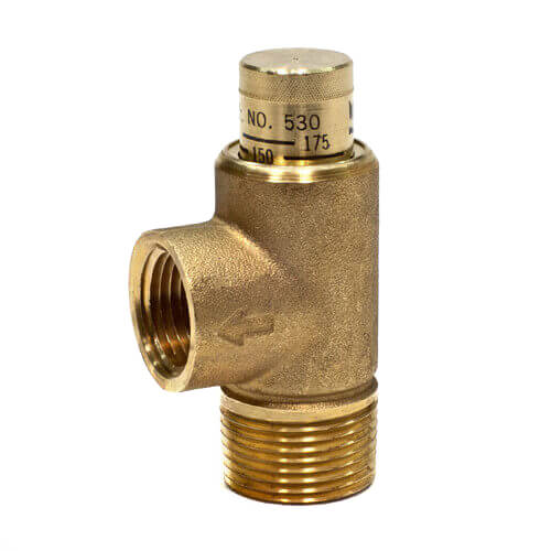 "3/4"" 530C Poppet Style Relief Valve, 100-300 psi Adjustable Product Image"