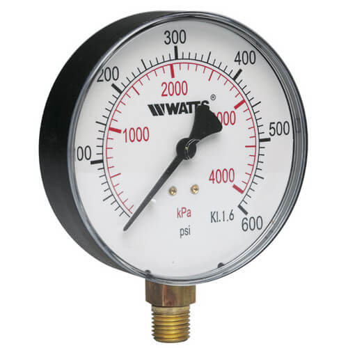 "1/4"" DPG-1 Bottom Entry Pressure Gauge w/ 4"" Dial (0-200 PSI)"