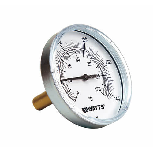"TB Center Back-Entry Bimetal Thermometers (2-1/2"" Dial) Product Image"