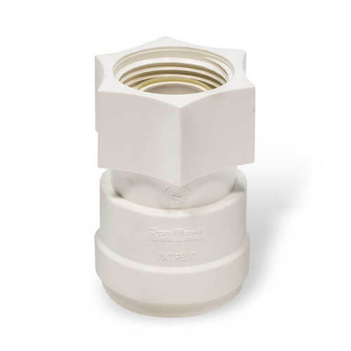"Polysulfone Quick-Connect Reducing Union Connector, 3/4"" CTS x 1/2"" CTS"