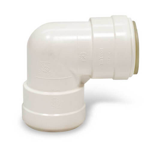 "Polysulfone Quick-Connect Union Elbow, 1"" CTS"