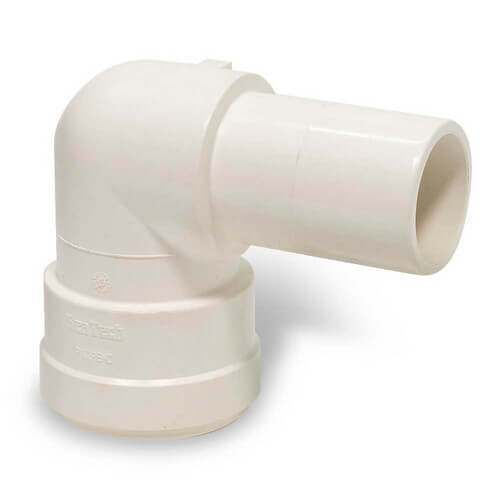 "Polysulfone Quick-Connect Stackable Elbow, 1"" CTS x 1"" OD"