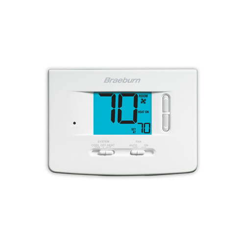 "Non-Programmable 1H/1C Thermostat w/ 3"" Display"