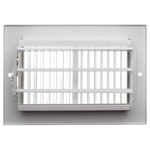"6"" x 4"" White Sidewall/Ceiling Register (661 Series)"