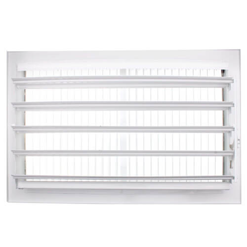"12"" x 5"" White Sidewall/Ceiling Register (661 Series)"