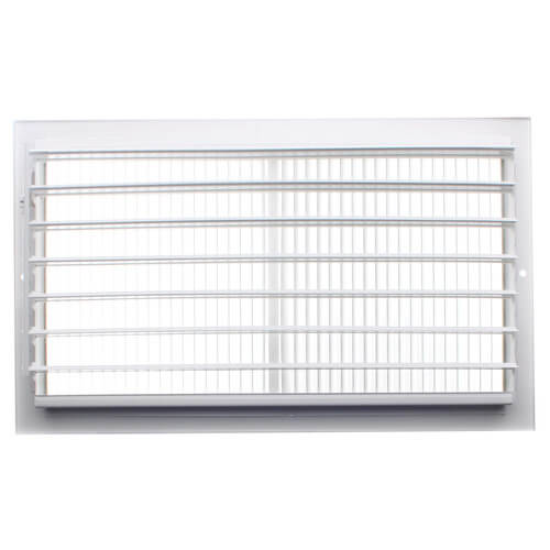 "14"" x 8"" White Sidewall/Ceiling Register (661 Series)"