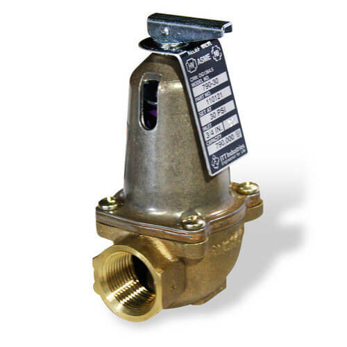 Safety Relief Valve, 15 PSI for All Res. Steam Boilers