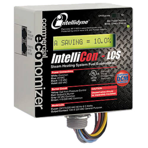 IntelliCon-LCS Light Commercial Steam Heating System Fuel Economizer