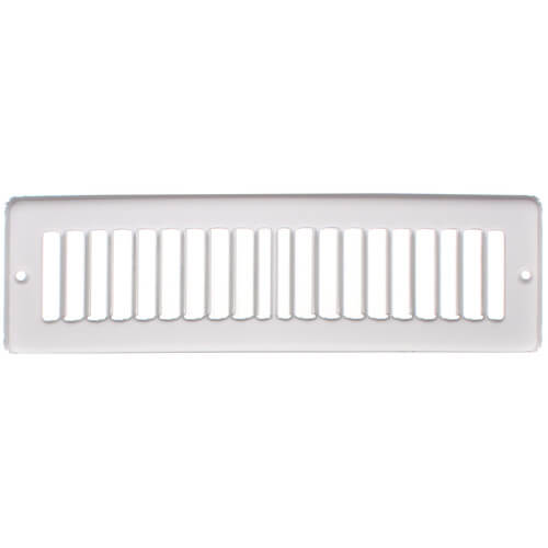 "10"" x 2"" White Toe-Space Grille (420 Series)"