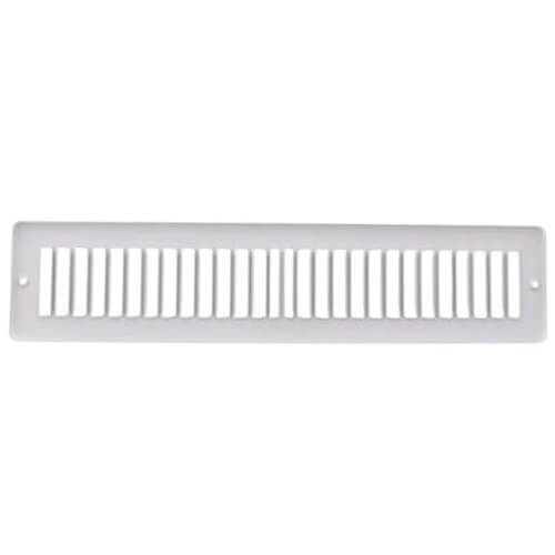 "14"" x 2"" White Toe-Space Grille (420 Series)"