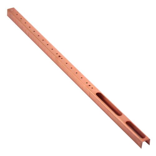 "1/2"" Copper Stub Bracket w/ extruded holes (20"" Length)"