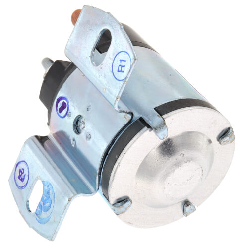 Solenoid w/ Continuous Duty, 24 VDC Isolated Coil, Normally Open, Contact Rating 100 Amps