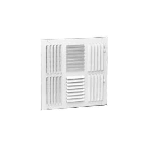 "8"" x 8"" Four-Way White Sidewall/Ceiling Register (684 Series)"