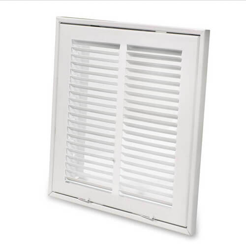 Ceiling Return Air Grille : Hart cooley quot white sidewall