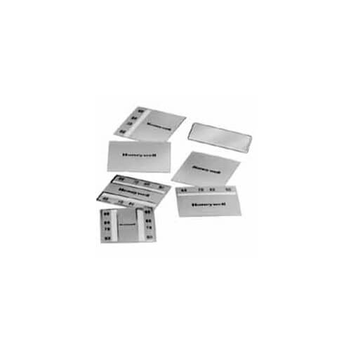 Pneumatic Thermostat Window Inserts  (Satin Chrome Cover)