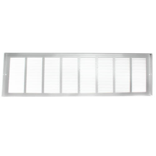 "32"" x 8"" White Baseboard Return Air Grille (657 Series)"