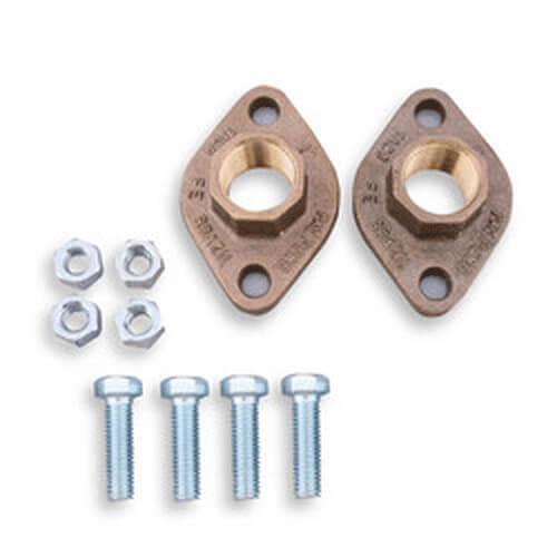 """3"""" Bronze 4-bolt threaded Flange for 1400-70B/3"""