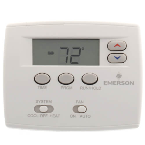 5+1+1 Day Programmable Blue Thermostat, 1/1 Single Stage