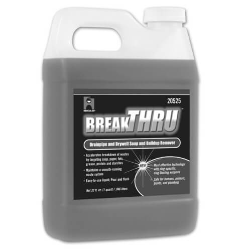 1/2 gal. Break-Thru Drainpipe & Drywell Soap & Buildup Remover