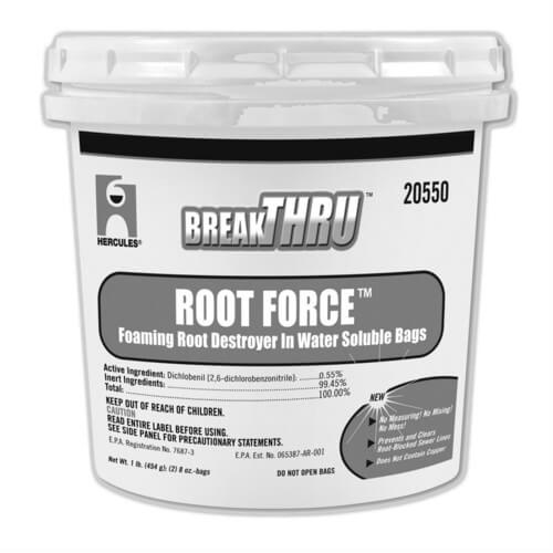 1lb. Break-Thru Root Force Foaming Root Destroyer