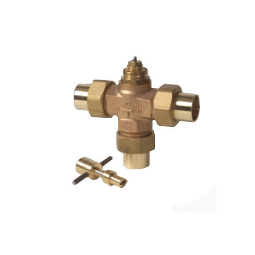 "Three Way Diverting Valve, 1-1/4"" Copper (Female)"