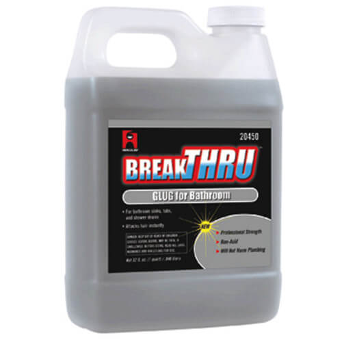 1 qt. Break-Thru Liquid Glug Drain Opener for Bathroom