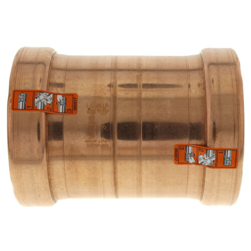 "1-1/4"" Propress Copper Coupling C x C - No Stop"