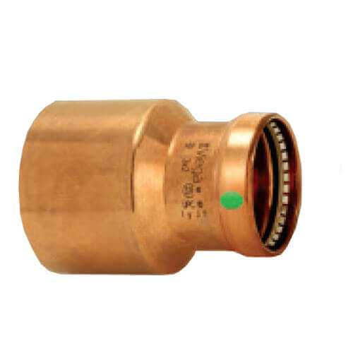 "3"" x 1-1/4"" Propress XL-C Copper Reducer - Zero Lead (FTG x C)"