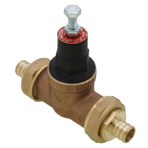23891 0045 cash acme 23891 0045 3 4 eb45 double union pex crimp pressure regulating valve. Black Bedroom Furniture Sets. Home Design Ideas