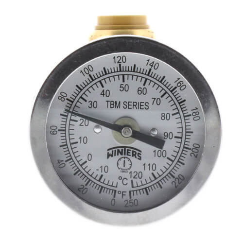 "SharkBite Temperature Gauge with 1/2"" Tee (Lead Free) Product Image"