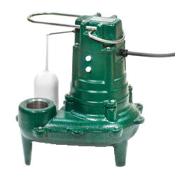 Model BN267 Waste-Mate Cast Iron Sewage Pump w/ Variable Level Float Switch - 115 V