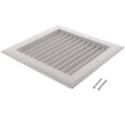 "8"" x 8"" White Sidewall/Ceiling Register (A618MS Series)"