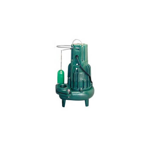 Model E284 Waste-Mate Non-Automatic Cast Iron Sewage Pump - 230 V, 1 HP (Single Seal)