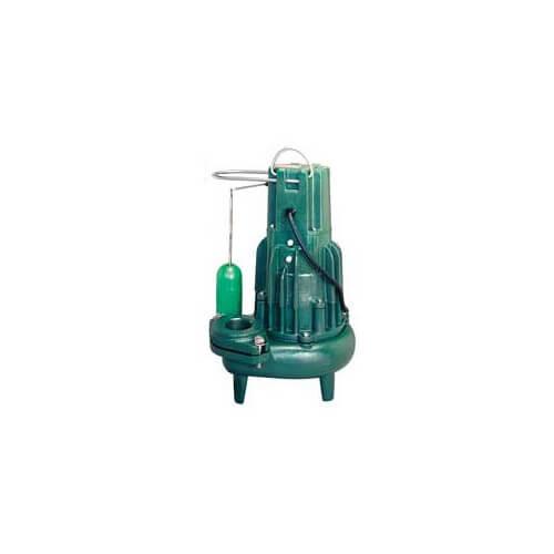 Model E295 High Head Waste-Mate Non-Automatic Cast Iron Sewage Pump - 230 V, 2 HP (Single Seal)