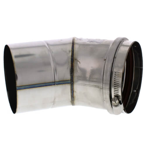 "4"" x 45° Z-Vent Single Wall Elbow"