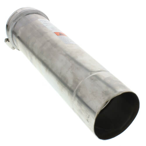 "3"" x 1 Ft. Z-Vent Single Wall Pipe Product Image"