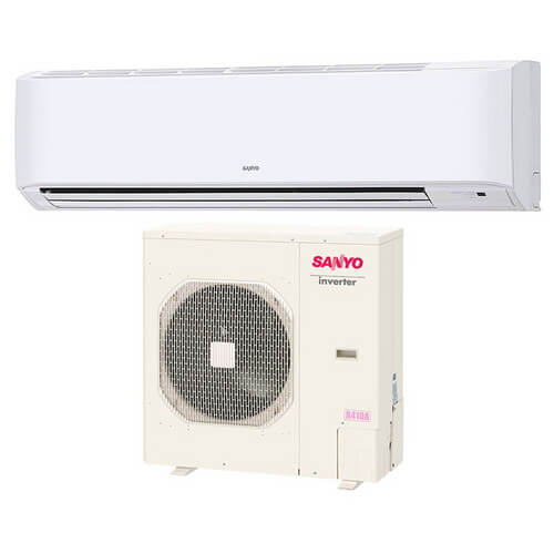 30ks82 sanyo 30ks82 30 600 btu ductless single zone mini split wall mounted cool only air. Black Bedroom Furniture Sets. Home Design Ideas