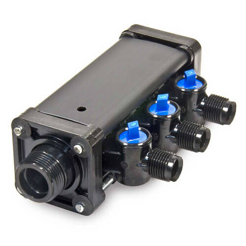 "3/8"", 3 Port Zero Lead Compression MINIBLOC"