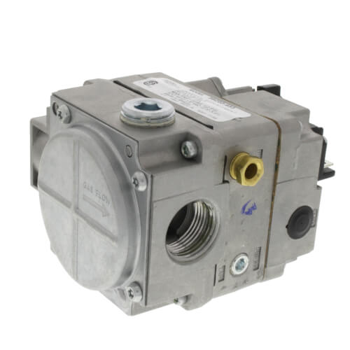 "3/4"" X 3/4"" Universal Gas Valve, 24 VAC, Side Outlets Tapped And Plugged"